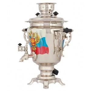 Самовар с росписью - Герб России