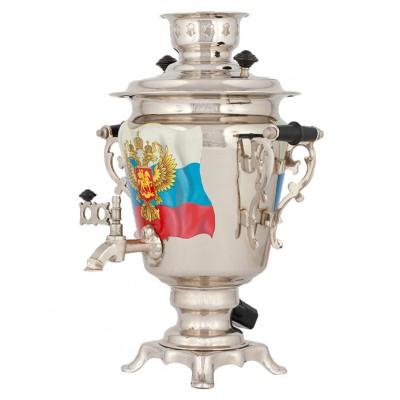 Самовар с росписью на заказ «Герб России»