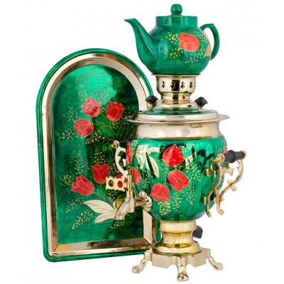 Самоварный набор с росписью «Цветы»